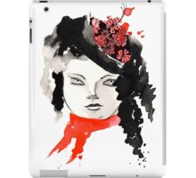 Winter Watercolor Girl iPad Case/Skin