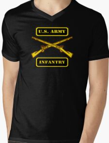 Army Infantry T-Shirt Mens V-Neck T-Shirt