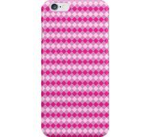 Simple Pink Argyle Pattern iPhone Case/Skin