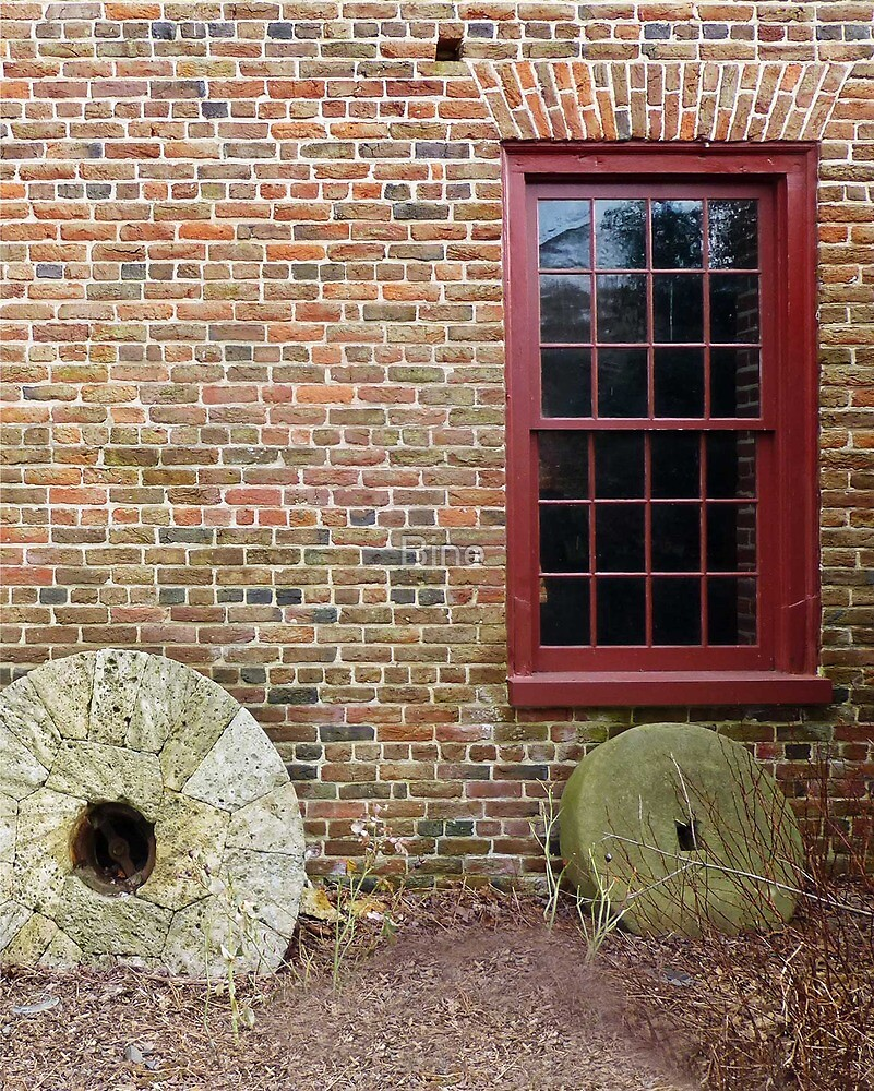 Window/Millstones at Colvin Mill by Bine