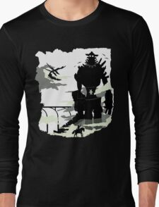 Silhouette of the Colossus white Long Sleeve T-Shirt