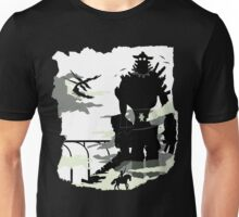 Silhouette of the Colossus white Unisex T-Shirt