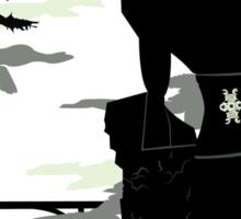 Silhouette of the Colossus white Sticker