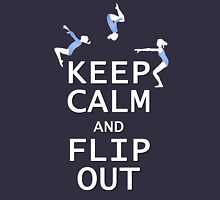 Keep Calm and Flip Out! Womens Fitted T-Shirt