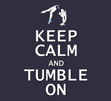 Keep Calm and Tumble On Womens Fitted T-Shirt