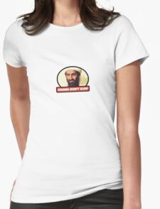 Osama Don't Surf Womens Fitted T-Shirt