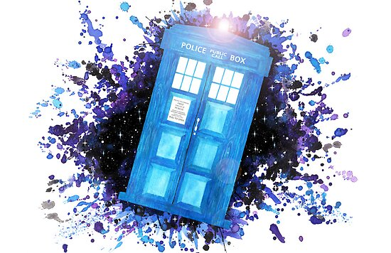 Wibbly-Wobbley Timey-Watercolor (White) by Shelby Bass