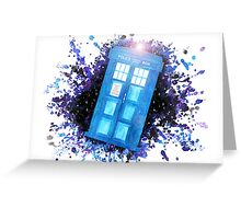 Wibbly-Wobbley Timey-Watercolor (White) Greeting Card