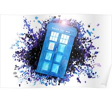 Wibbly-Wobbley Timey-Watercolor (White) Poster
