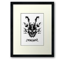 Imaginary Inkblot- Donnie Darko Shirt Framed Print