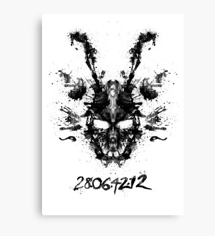Imaginary Inkblot- Donnie Darko Shirt Canvas Print