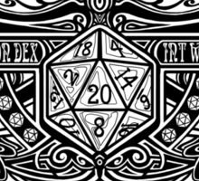 Dice Deco D20 Sticker