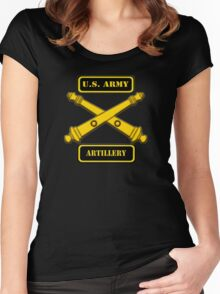 Army Artillery T-Shirt Women's Fitted Scoop T-Shirt