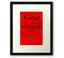 V For Vendetta Pentalogue Framed Print