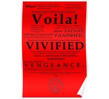 V For Vendetta Pentalogue Poster