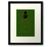 Tyrion Lannister - Armour Framed Print