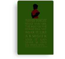 Tyrion Lannister - Armour Canvas Print