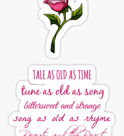 Beauty and the Beast Lyrics Sticker