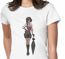 Steampunk Inspired Girl Womens Fitted T-Shirt