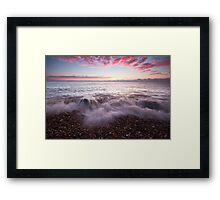 Just before sunrise on Eastbourne beach Framed Print