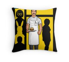 The Cook Who Loved Burgers Throw Pillow