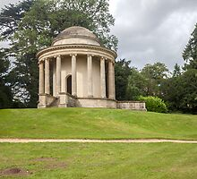 Temple of Ancient Virtue Stowe Gardens  by David Patterson