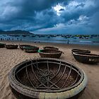 Coracles at Quy Nhon by Karl Willson