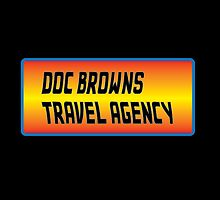 Doc Brown's Travel Agency by jeffaz81