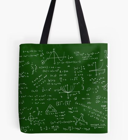 Algebra Math Sheet Tote Bag