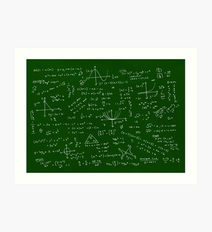 Algebra Math Sheet Art Print