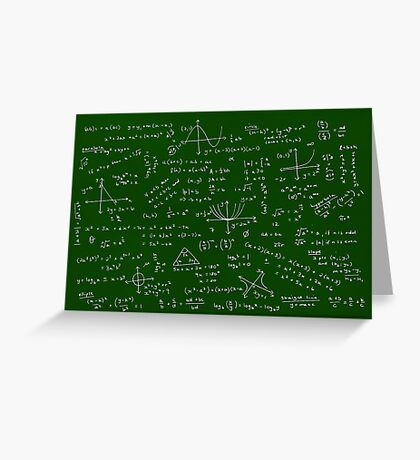 Algebra Math Sheet Greeting Card