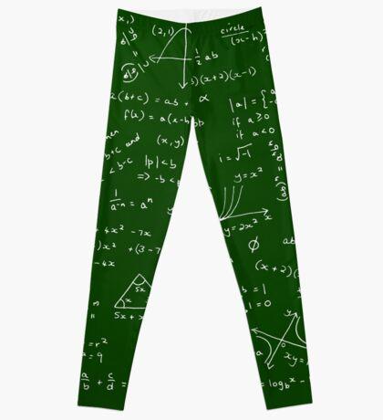 Algebra Math Sheet Leggings