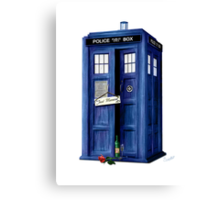 The Tardis - Just Married Canvas Print