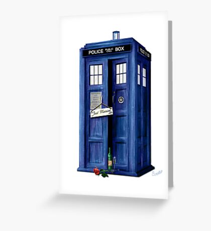 The Tardis - Just Married Greeting Card