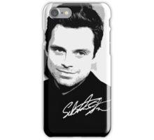 Sebastian Stan B&W Cutouts W/Signature iPhone Case/Skin