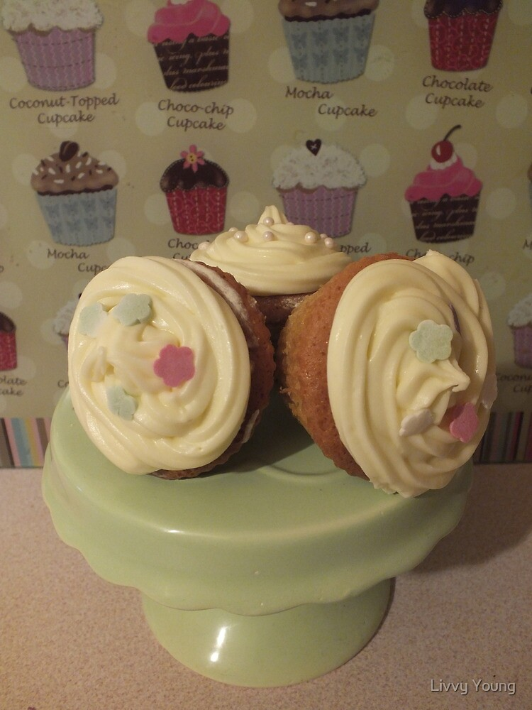 Yummy cupcakes. by Livvy Young