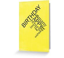 Typographic Birthday Greeting Greeting Card