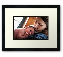 A Mother's Look of Love Framed Print