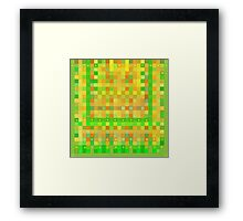 Wild Orange Blocks and Dots Framed Print