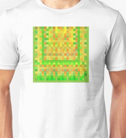 Wild Orange Blocks and Dots Unisex T-Shirt