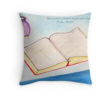 Your Word is a Light for my Path Throw Pillow