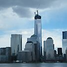 The New World Trade Center Dominates the Lower Manhattan Skyline, New York City by lenspiro