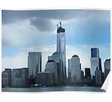 The New World Trade Center Dominates the Lower Manhattan Skyline, New York City Poster