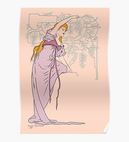 Lady Wisteria Poster
