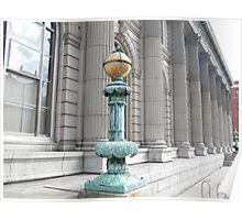 Classic Lamp Post, Jersey City Post Office, Jersey City, New Jersey Poster
