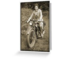Biker Bonnie Greeting Card