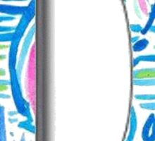 Preppy Lilly Pulitzer Monogram D Sticker