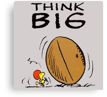 Woodstock Peanuts Think Big Canvas Print