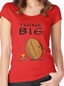 Woodstock Peanuts Think Big Women's Fitted Scoop T-Shirt