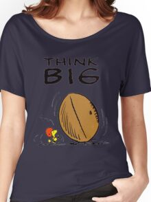 Woodstock Peanuts Think Big Women's Relaxed Fit T-Shirt